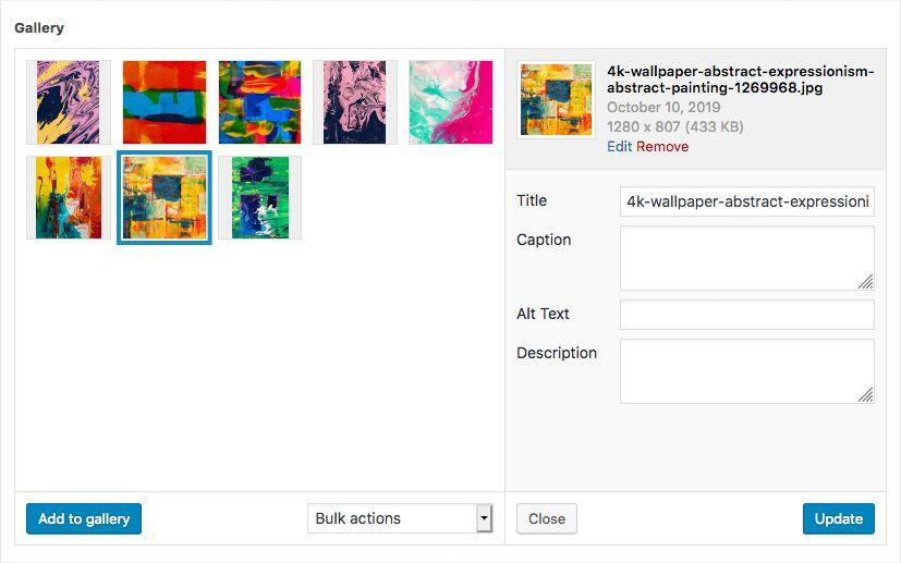 Een handig fotogalerij-veld voor WordPress