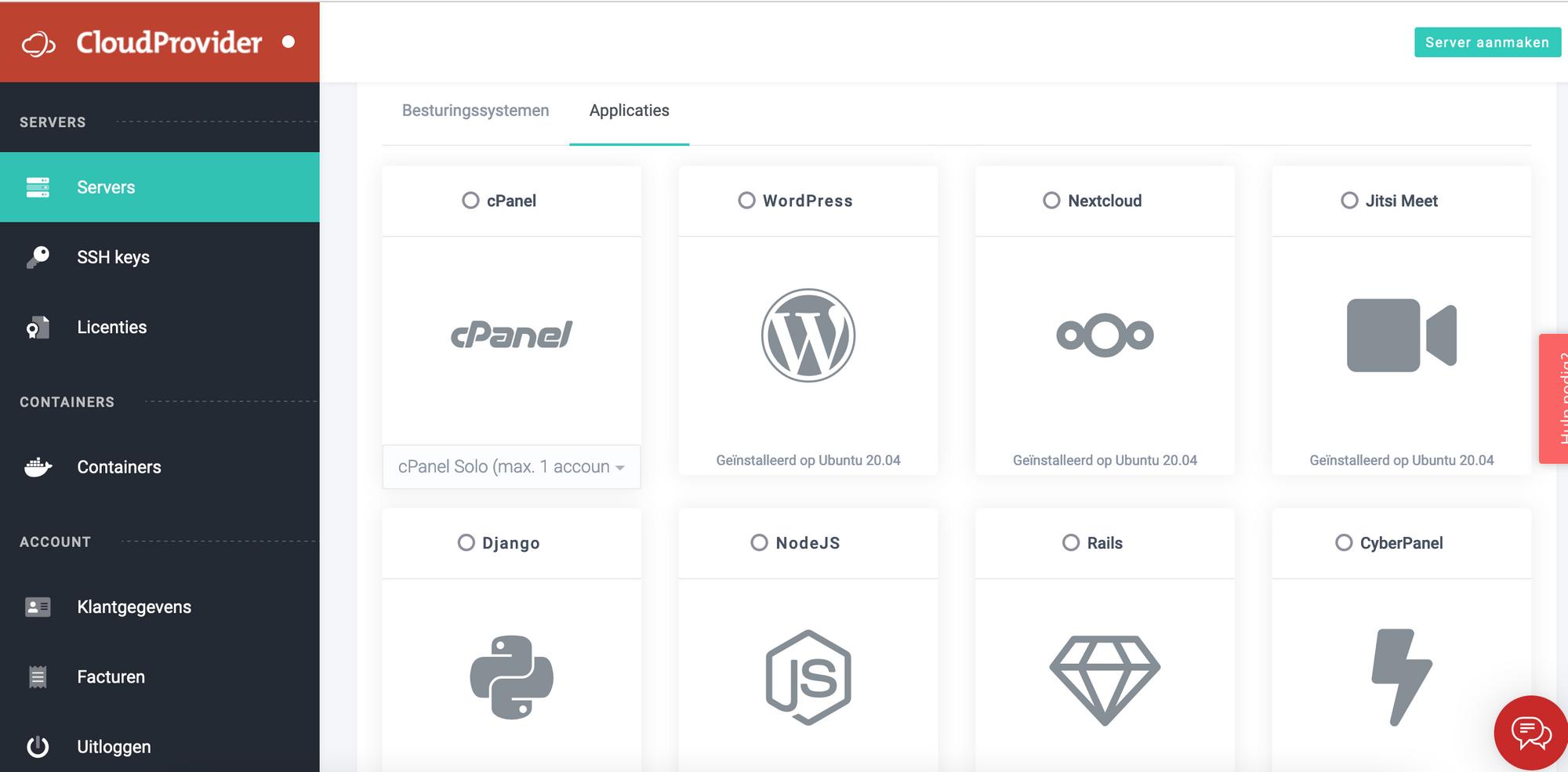 Nieuwe VPS opties: SSH keys, licenties, cloudinit, meer 1-klik VPS applicaties