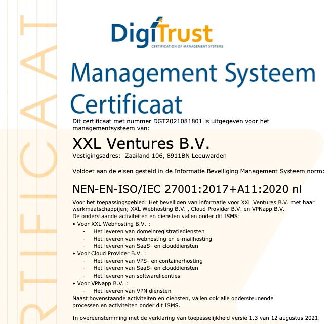 Hoera, we hebben de ISO certificering gehaald!
